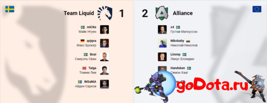 Alliance vs Team Liquid на ESL One LA Online