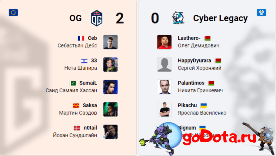 OG vs CL на ESL One LA Online