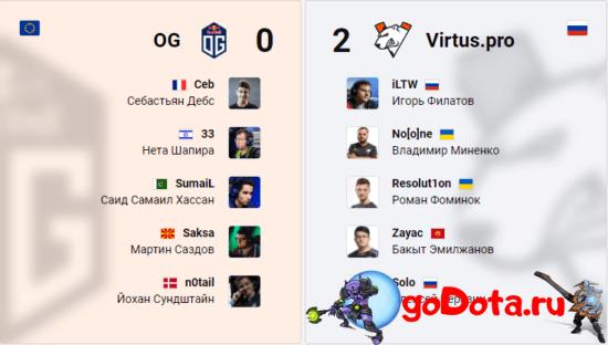 OG vs VP на ESL One LA Online