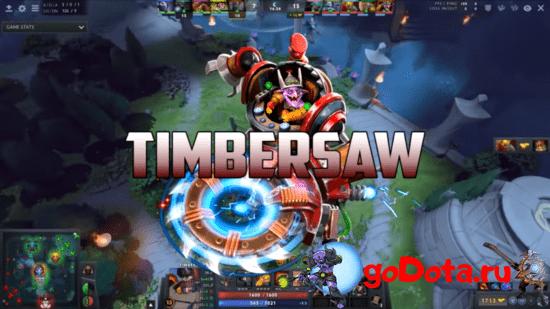 Timbersaw - лучший контр пик Bristleback в патче 7.26с