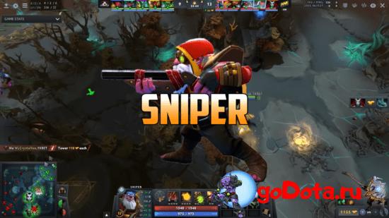 Sniper - лучший контр пик Necrophos в патче 7.26с